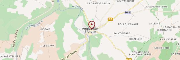 Carte Angles-sur-l'Anglin - Poitou, Charentes