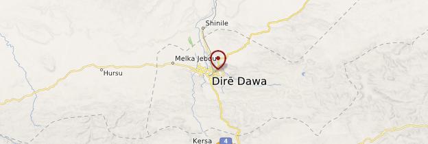 Carte Dire Dawa - Éthiopie