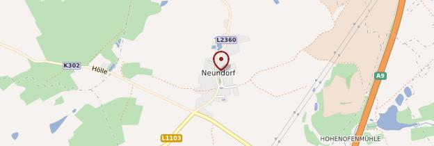 Carte Neundorf - Allemagne