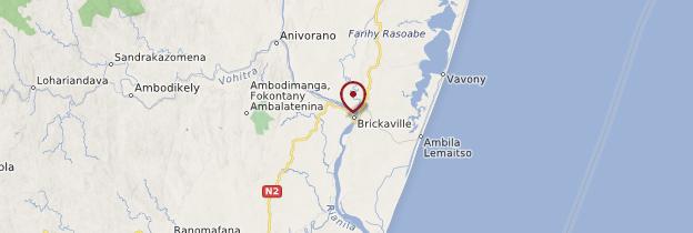 Carte Brickaville - Madagascar