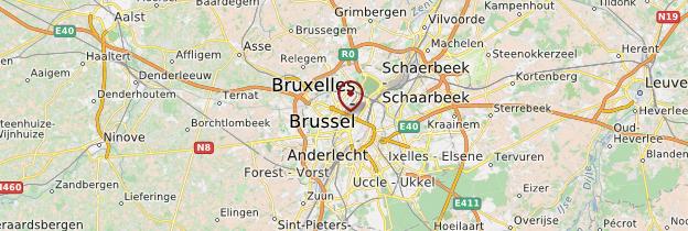 Carte Koekelberg - Belgique