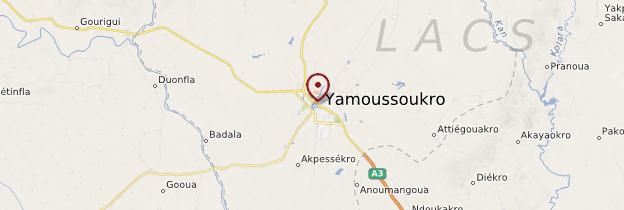 Carte Yamoussoukro - Côte d'Ivoire