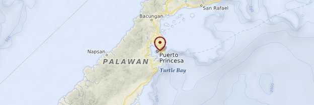 Carte Puerto Princesa - Philippines