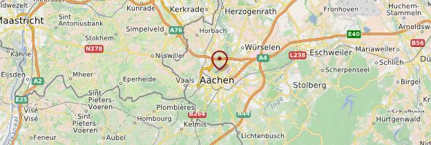 Carte Aachen (Aix-la-Chapelle) - Allemagne