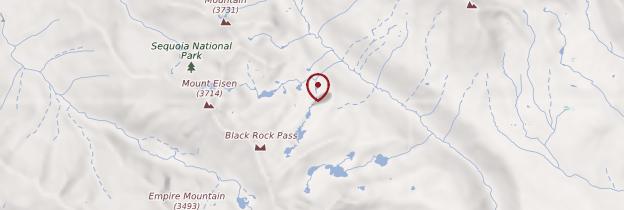 Carte Sequoia National Park - Parcs nationaux de l'Ouest américain