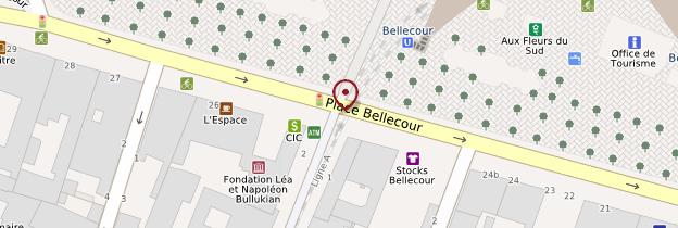 Carte Place Bellecour - Lyon et ses environs