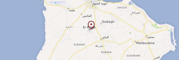 Carte Er-Riadh - Tunisie