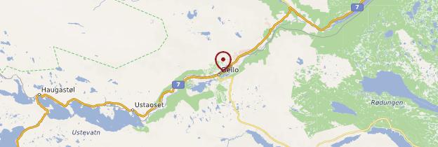 Carte Geilo - Norvège