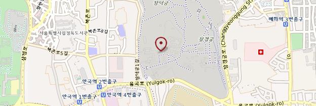 Carte Changdeokgung - Corée du Sud
