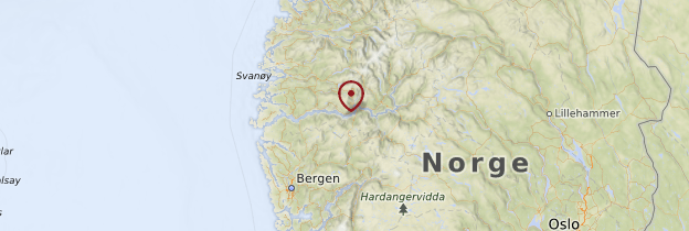 Carte Sognefjord - Norvège