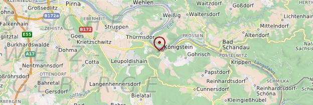 Carte Königstein - Allemagne