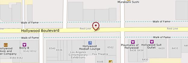 Carte Hollywood Boulevard - Los Angeles