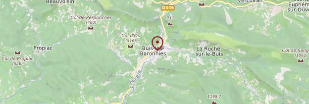 Carte Buis-les-Baronnies - Ardèche, Drôme
