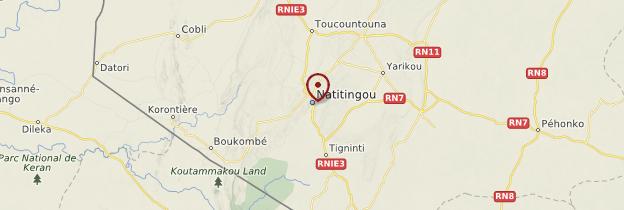 Carte Natitingou et le pays Somba - Bénin