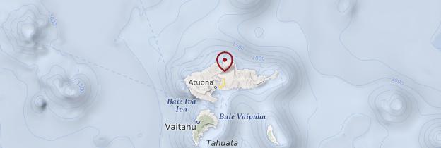 Carte Hiva Oa - Polynésie française