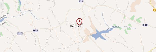 Carte Belcastel - Midi toulousain - Occitanie