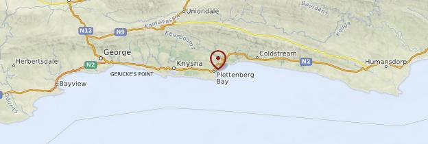 Carte Plettenberg Bay - Afrique du Sud