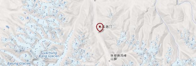 Carte Monastère de Rongpuk - Tibet