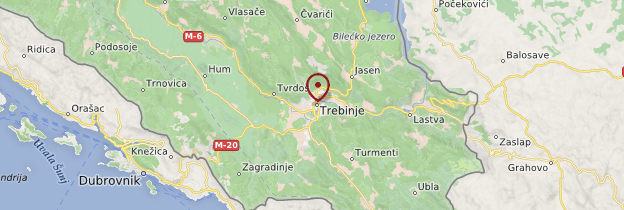 Carte Trebinje - Bosnie-Herzégovine