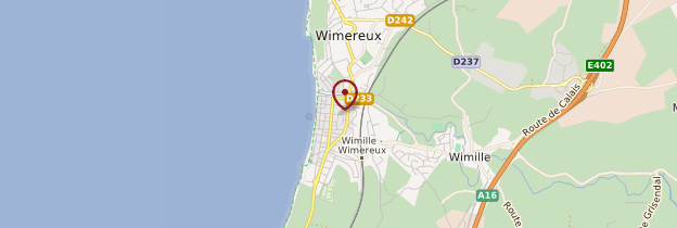 Carte Wimereux - Nord-Pas-de-Calais