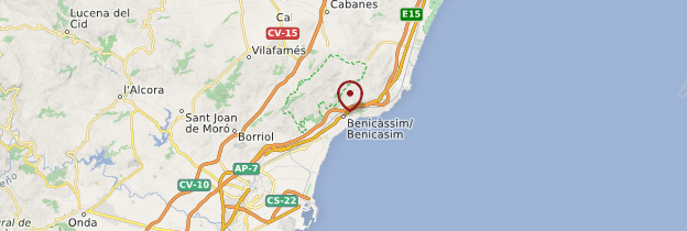 Carte Benicàssim - Espagne