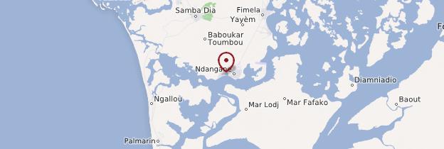 Carte N'Dangane - Sénégal