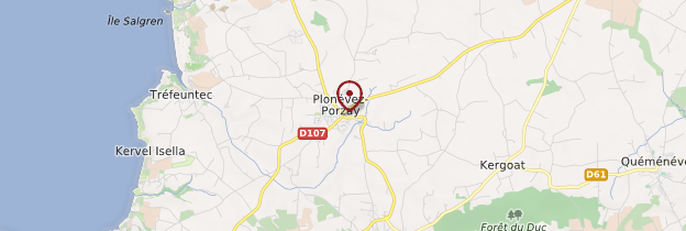Carte Plonévez-Porzay - Bretagne