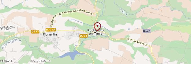Carte Rochefort-en-Terre (Roc'h-An-Argoed) - Bretagne