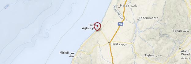 Carte Aglou - Maroc