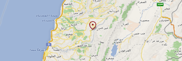 Carte Montagnes du Chouf - Liban