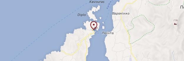 Carte Île d'Antiparos - Îles grecques