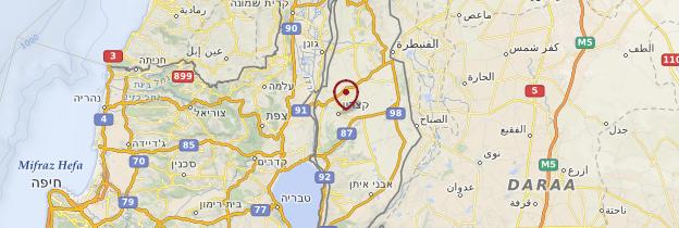 Carte Plateau du Golan - Israël, Palestine