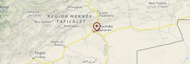 Carte Errachidia - Maroc