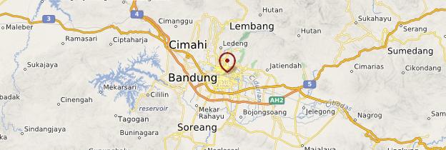 Carte Bandung - Indonésie