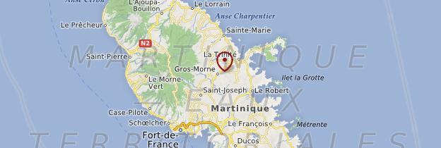 Carte Gros-Morne - Martinique