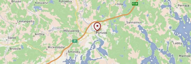 Carte Porvoo (Borgå) - Finlande