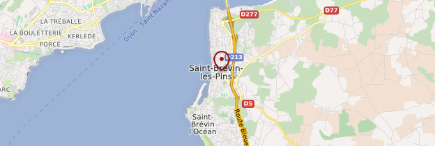 Carte Saint-Brévin-les-Pins - Pays de la Loire