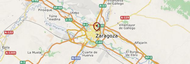 Carte Zaragoza (Saragosse) - Espagne