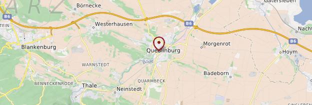 Carte Quedlinburg - Allemagne