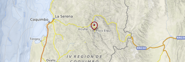 Carte Vallée de l'Elqui - Chili