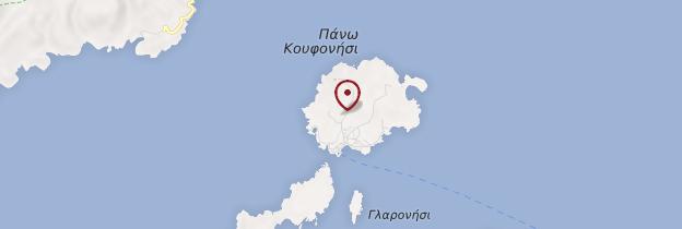 Carte Koufonissia - Îles grecques