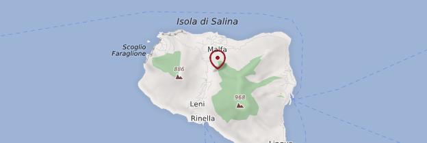 Carte Isola Salina - Sicile