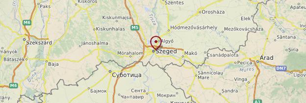 Carte Szeged - Hongrie