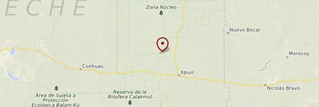 Carte Reserva natural y zona archeológica de Calakmul - Mexique