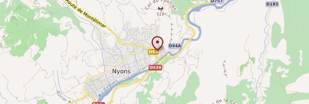 Carte Nyons - Ardèche, Drôme