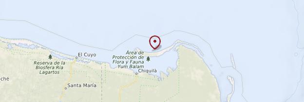 Carte Isla Holbox - Mexique