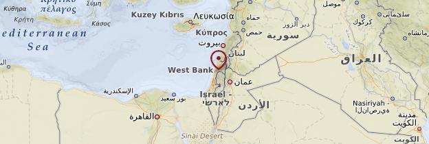 Carte Césarée - Israël, Palestine