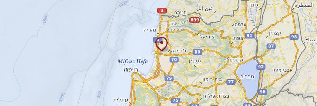 Carte Akko (Saint-Jean-d'Acre) - Israël, Palestine