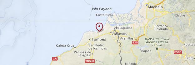 Carte Puerto Pizarro - Pérou