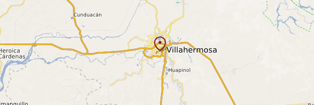 Carte Villahermosa - Mexique